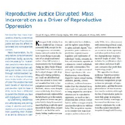 report- mass incarceration as driver for reproductive oppression